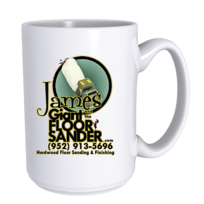 James and the Giant Floor Sander Mug