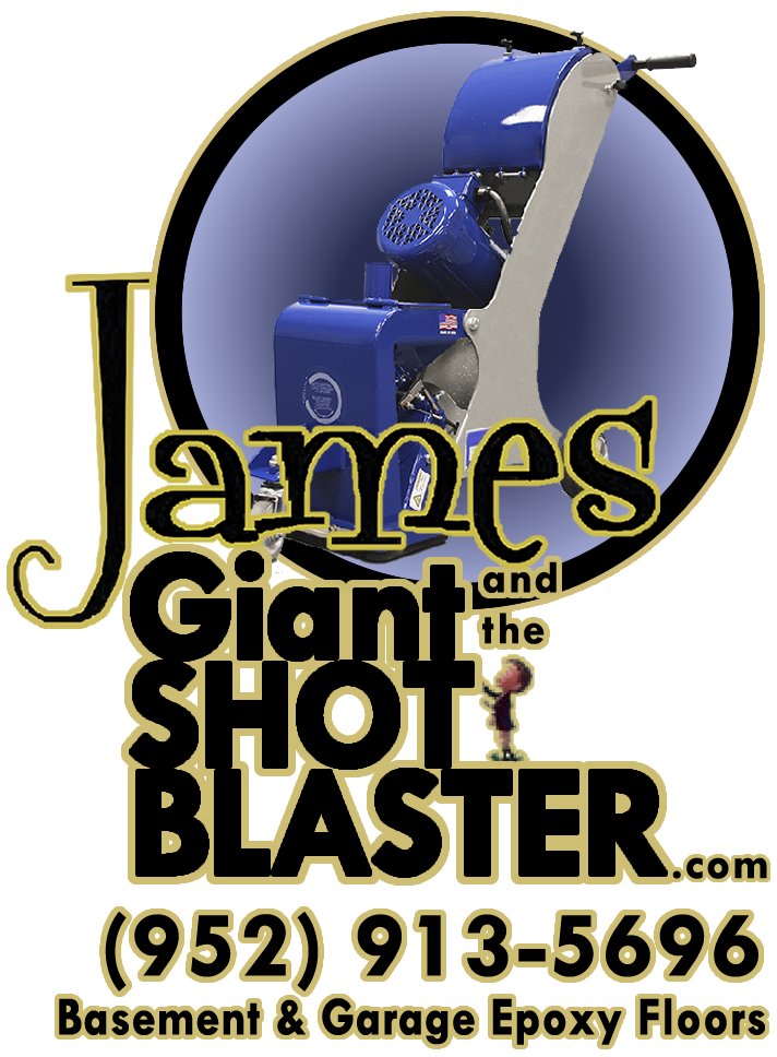 Welcome to James and the Giant Shot Blaster. Residential Epoxy Flooring Services for Basement and Garage Floors.